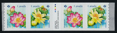 Canada 3089ii coil gutter strip MNH Lotus, Flowers