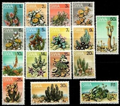 SWA SOUTH WEST AFRICA 1973 Succulents in S.W.A/Cacti Def's SG 241-256 MNH FAUNA