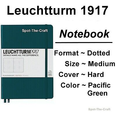 Leuchtturm1917 - Dotted Journal / Notebook - Medium A5 - Pacific Green