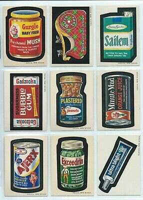 Wacky Packages 1973 Series 2 Complete Set 33/33 Wb Run Tony Nm/Nmmt