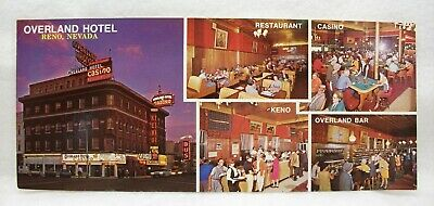 Overland Hotel Casino Reno vintage post card