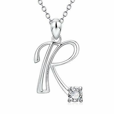 fcbc2346f95a05 Initial Necklace For Girls Teens Or Women 925 Sterling Silver Pendant Letter