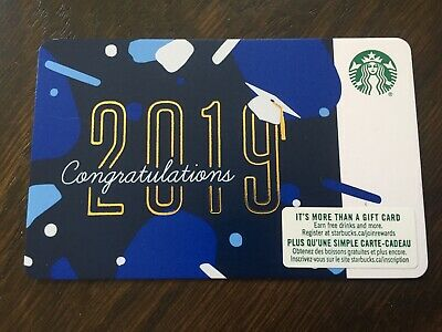 "Canada Series Starbucks ""CONGRATULATIONS 2019"" - Gift Card - New - No Value"