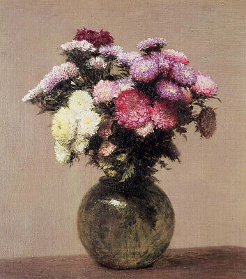 Free shipping Oil painting HENRI FANTIN-LATOUR still life flowers Daisies canvas