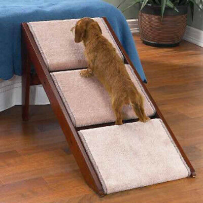 Fordable 20kg Weight Capacity Pet Steps Ramp for Old Dogs and Cats W/ arthritis