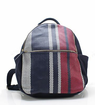 7451878e492 Tommy Hilfiger NEW Blue Classic Tommy Woven Dome Medium Backpack $128- #061