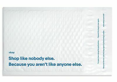 """100 eBay Branded Bubble Mailers Airjacket Padded Envelopes 6.5"""" x 8.75"""""""