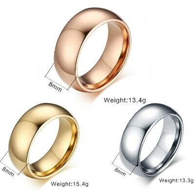 Authentic Tungsten Carbide Fashion Mens Womens Wedding Band Brushed Ring Jewelry