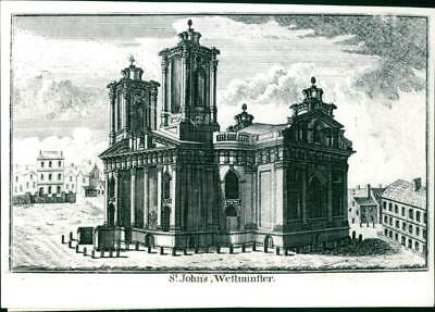 St. John' Church, Smith Square, Westminster, 18th century church. - Vintage phot