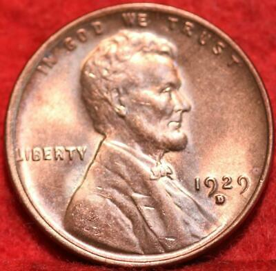Uncirculated Red 1929-D Denver Mint Copper Lincoln Wheat Cent