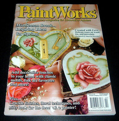 Paintworks Magazine ~ February 2003 ~ Tole & Decorative Painting ~ Door Harp ++