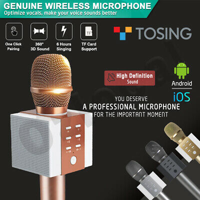 Top Model TOSING 008 Wireless Bluetooth Karaoke Microphone Speaker Handheld Mic