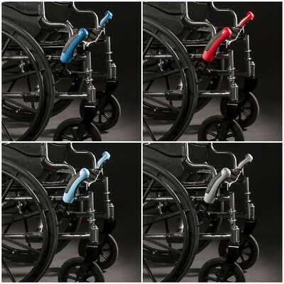 RED Wheelchair Brake Extensions ONE PAIR Lever Lock  HAND-EAZE GRIPS