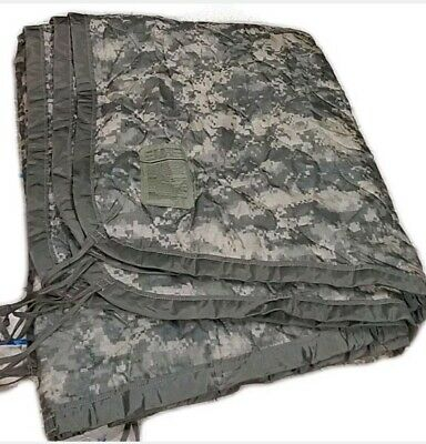 "Genuine US Military Poncho Liner ""Woobie"" ACU camo Grade B Good condition USGI"