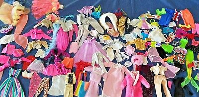 Bulk Lot Vintage Barbie Clothes Plus Other (116..pieces)