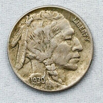 1930 Buffalo Nickel - About Uncirculated - Strong Strike - 5c Copper-Nickel