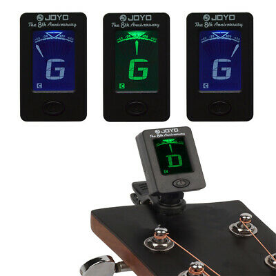 LCD Clip-on Digital Electronic Guitar Tuner for Chromatic Ukulele Bass Violin UK