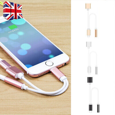 Lightning to 3.5mm Charging Earphone AUX 2in1 Adapter Cable For iPhone 7 XS XR