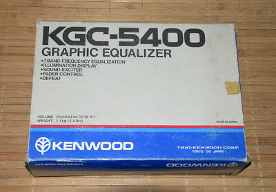 Kenwood KGC 5400 • NEW • NOS • Vintage Car HiFi • KGC5400 • New Old Stock EQ OVP