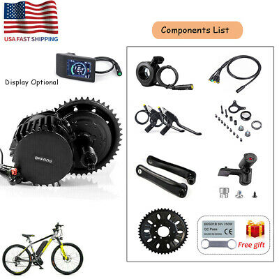 48V 1000W BAFANG BBSHD Electric Bike Mid Drive Motor Conversion Kit w/  Display
