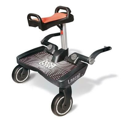 Lascal BuggyBoard Maxi Plus with Saddle (Black/Red)