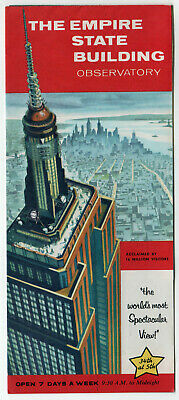 1960s EMPIRE STATE BUILDING Vintage Brochure NEW YORK CITY Manhattan SKYSCRAPER