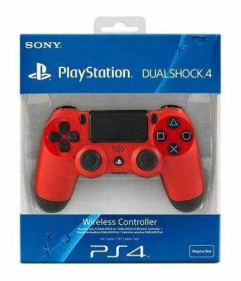 Sony PS4 Dualshock 4 V2 Magma Red Controller - THIS ITEM HAS A DAMAGED BOX(1)