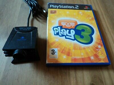Playstation 2 Eyetoy USB Camera plus Play 3 Game - ps2 Official Sony eye toy