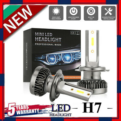 MINI H7 LED Headlight Bulbs Conversion Kit 200W 48000LM 6000K Hi/Lo Beam Lamps
