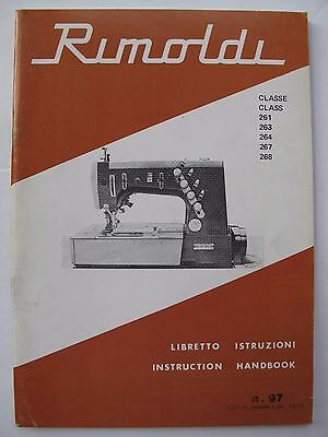 """Instructions for using RIMOLDI SEWING MACHINES """"FLAT-BED"""" CLASS 261, 263, 264..."""