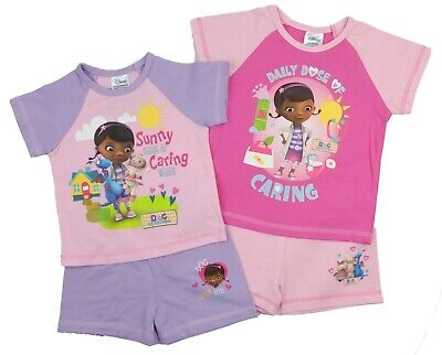 Girls Doc McStffin Short Pyjamas 18-24 Months and 2-3 Years