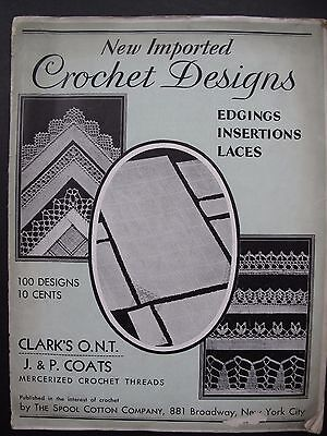 NEW IMPORTED CROCHET DESIGNS – original 1930 pattern book