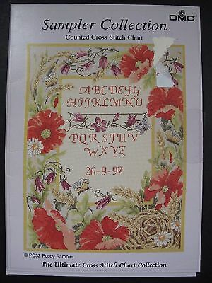 Dmc Sampler Collection  - Poppy - Counted Cross Stitch Chart Pc32