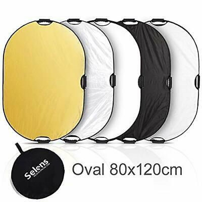 Selens 5-in-1 80*120cm Oval Reflector with Handle for Photography Photo Studio
