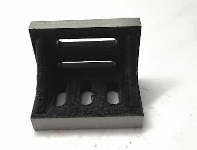 """New Angle Plate 2""""x 3"""" x 2"""" (50 x 75 x 50 mm) -Machined Clean Slots-Lathe,Mill"""
