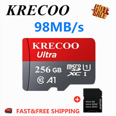 256GB Memory Card On Sale TF Micro SDHC XC Class10 98MB/s UHS-1 Universal New