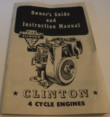 1954 Clinton 4 Cycle Engines Owner's Guide & Instruction Manual Illustrated
