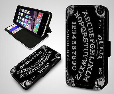 Ouija Board Goth Emo Metal Game Rules Ghost Flip Wallet Leather Phone Case Cover