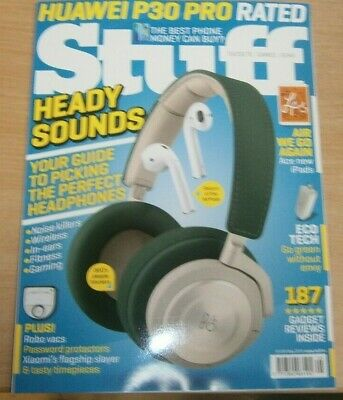Stuff magazine May 2019 Perfect Headphones guide + Huawei P30 Pro, Robo Vacs