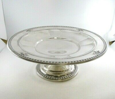 """J.E. Caldwell Windsor Pattern 925 Sterling Silver Standing Compote 10"""" x 3.5"""""""