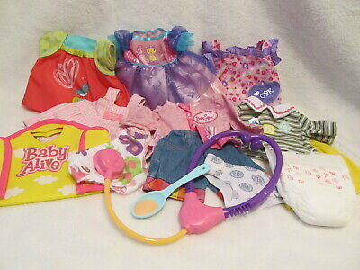 Hasbro Baby Alive Doll Clothes Stethoscope Diapers Princess Dress Spoon & More
