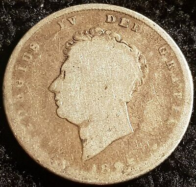 1825 George IV .925 Silver British Shilling Coin Lot 2
