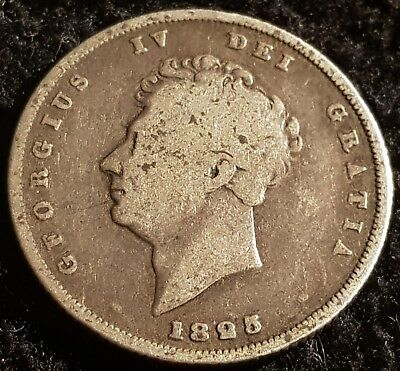 1825 George IV .925 Silver British Shilling Coin Lot 4