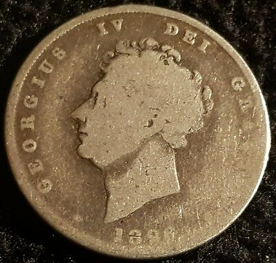 1826 George IV .925 Silver British Shilling Coin Lot 2
