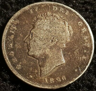 1826 George IV .925 Silver British Shilling Coin Lot F6
