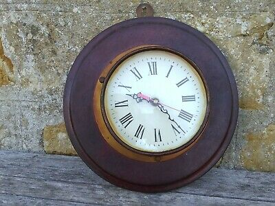 Bespoked handmade Maritime style Brass / copper clock on wooden plaque