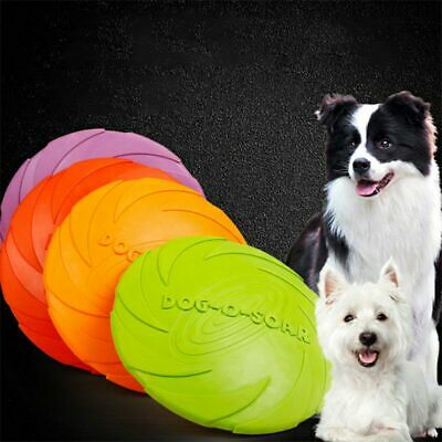 Dog Toy Flyer Flexible Durable Frisbee Disc Chew Fetch Toys Rubber Pet Frisby