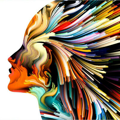 Canvas Girl Face Paintings Wall Art Pictures HD Prints Watercolor Abstract