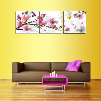 3Pcs Flower Combination Painting Oil Painting Printed On Canvas Home Decorative