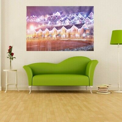 City Christmas Eve Frameless Painting Living Room Bedroom Wall Painting Home
